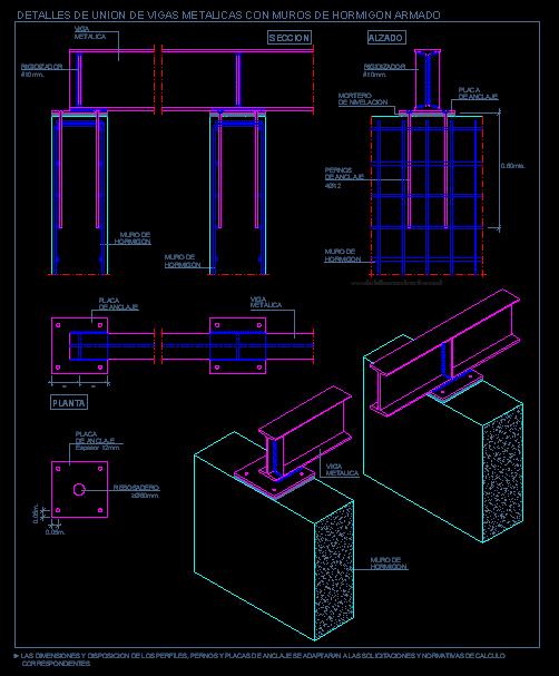 Apoyo de vigas metalicas sobre muro de hormig n armado - Tipos de vigas metalicas ...