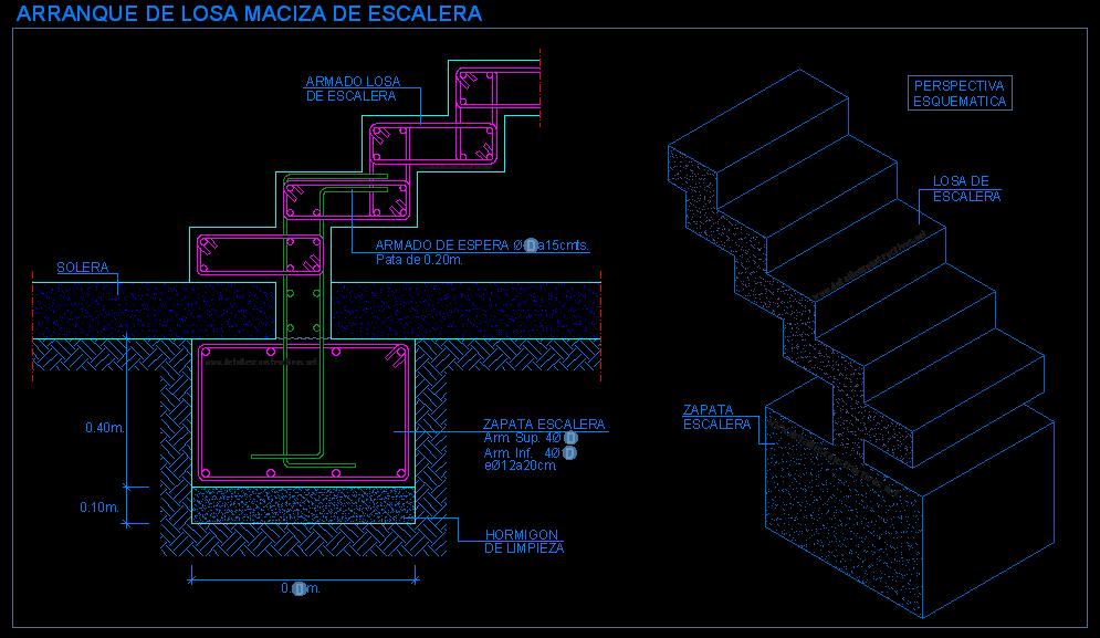 Nucleo de escaleras - Escaleras de hormigon armado visto ...