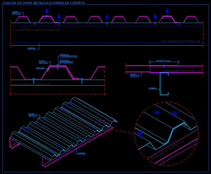Detalles constructivos en dwg para autocad - Detalle constructivo techo ...