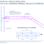 union_losa_escalera_pantalla_nucleo_tabique_anclajes_stairs_slab_wall_dwg_cad_de