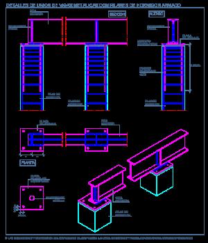 apoyo_pilares_vigas_perfiles_metalicos_columna_hormigon_concreto_dwg_bloque