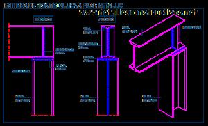 Apoyo de viga metálica en pilar metálico estructura metalica