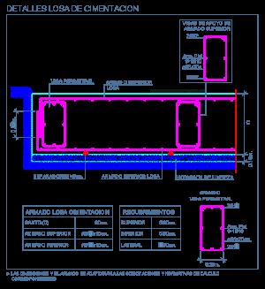 losa cimentacion hormigon concreto armado maciza fundaciones detalle