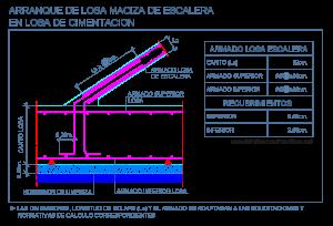 escalera_losa_maciza_hormigon_arranque_cimentacion_dwg_cad_stairs_slab_detalle