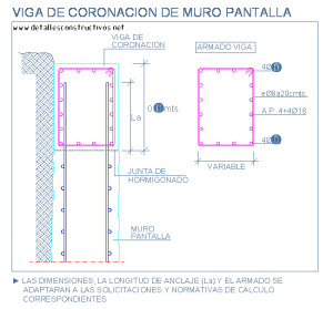 viga_coronacion_muros_pantalla_tabique_slurry_wall_top_beam_cad_dwg