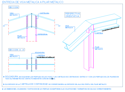 column_inclined_sloping_beam_steel_connections_union_pilar_viga_inclinada