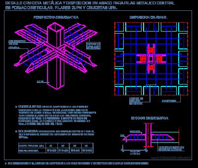 Cruceta met lica para baco en forjado reticular crucetas for Forjado estructura metalica