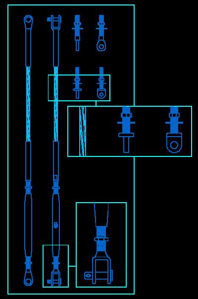 Detalles constructivos en dwg - Cables de acero ...