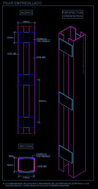 pilar_metalico_acero_steel_empresillado_ligado_columna_reticulada_presilla