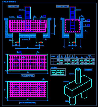 pile_cap_2_system_reinforced_concrete_deep_foundations_grupo_estacas_bloco
