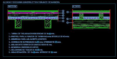 madera_forjados_entrepisos_techos_vigas_rastrel_correas_dwg_seccion_detalle