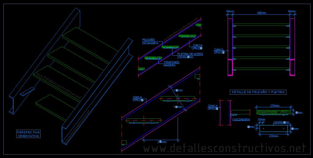 Madera - Escaleras de acero ...