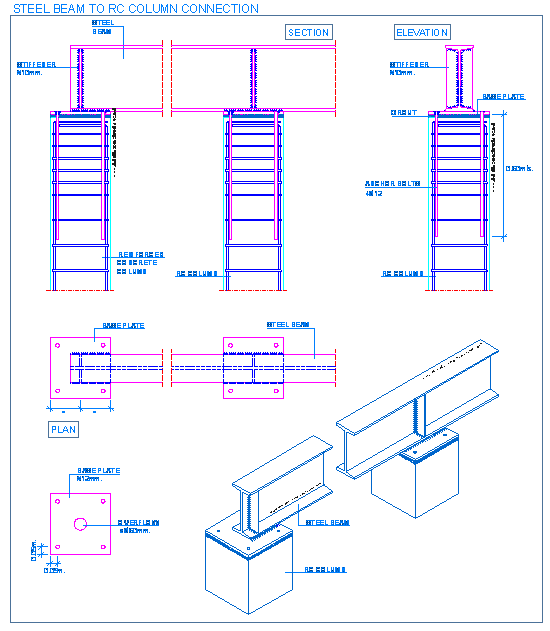 Structural Steel Connections Dwg : Steel detallesconstructivos