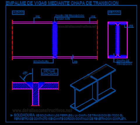IPE_empalme_union_testa_chapa_soldadura_viga_metalica_laision_poteaux_poutre_metallique_trave_welded_connection_butt_joint_steel_frame_beams_dwg
