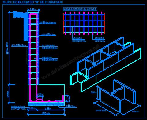 bloques_H_de_hormigon_muro_contencion_retencion_prefabricado_blocchi_cemento_sostegno_blocs_mur_beton_planos_concreto_alvenaria_cad_blocks_retaining_wall