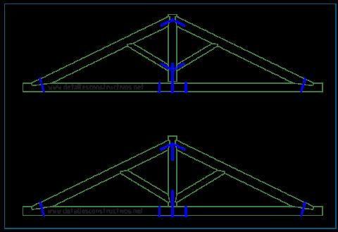 cercha_de_madera_viga_reticulada_trabe_timber_roof_truss_king_post_frames