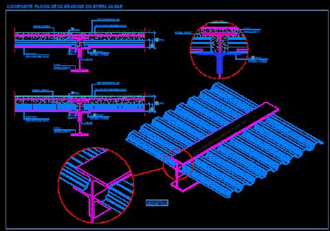 composite_steel_deck_decking_floor_slab_metal_bearin_angle_frames_beam