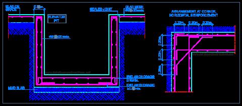 elevator_pit_walls_reinforced_concrete_section_slab_on_ground_fosse_ascenseur
