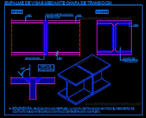 empalme_union_testa_chapa_soldadura_viga_metalica_heb_hb_laision_poteaux_poutre_metallique_trave_welded_connection_joint_steel frame_beams_dwg