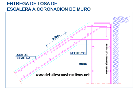 escalera_losa_maciza_armado_hormigon_refuerzo_muro_contencion_zanca_apoyo_entrega_plano_cad_staircase_slab_concreto_scala_treppe_grada