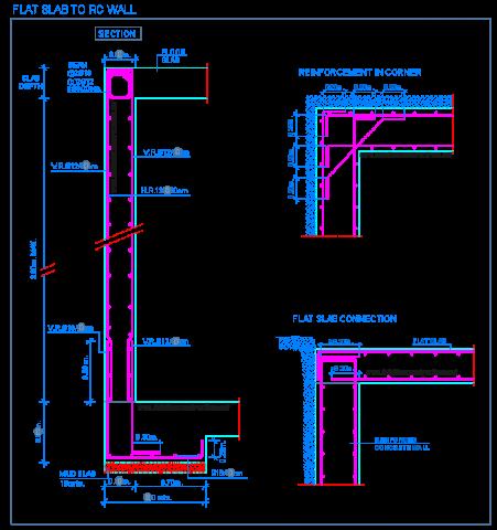 flat_slab_reinforced_concrete_wall_connection_joint_floor_mur_beton_arme