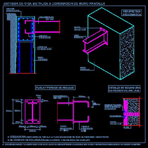muro_pantalla_hormigon_concreto_viga_metalica_steel_beam_mur_beton_poutre_acier