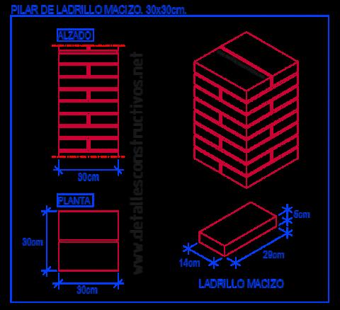 pilar_ladrillo_macizo_obra_resistente_fabrica_portante_brick_column_alvenaria_pilastra_machon_dwg_muratura_carga