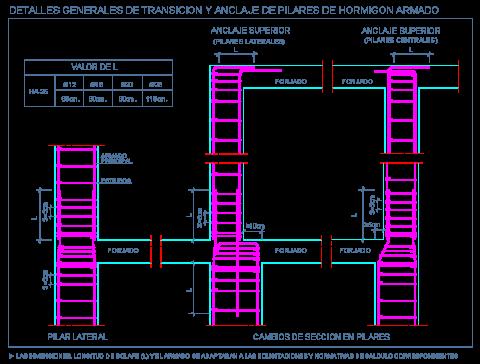 pilares_hormigon_armado_concreto_columnas_anclaje_seccion_transicion_dwg_detalle
