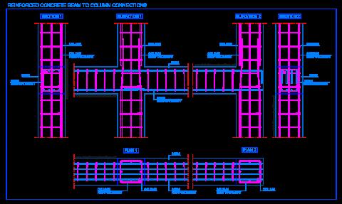 reinforced_concrete_beam_to_column_connection_joint_poutre_poteaux_beton_arme