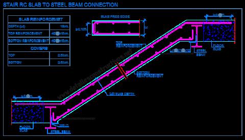 reinforced_concrete_staircase_detail_rcc_stair_slabs_steel_beam_connection_betontreppe_dwg_stahalbeton_Betondecke_Stahltrager_ipe_equal_leg_angle