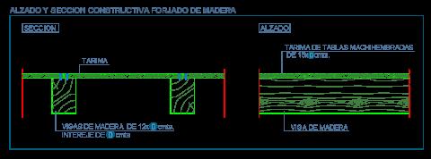 techo_forjado_madera_vigas_wood_beams_holzbalken_dwg_cad