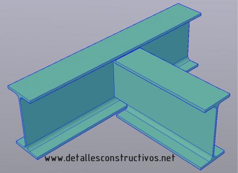 union_vigas_metalicas_perfiles_embrochalamiento_apeo_vigas_acero_3d_modelo__estructural_poutre_assemblage_soude_profile_metallique_acier_structure_giunti_collegamento_travi_acciaio