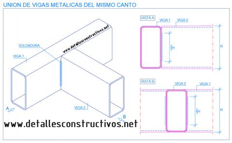 union_perfil_tubo_rectangular_viga_metalica_acero_estructural_soldadura_conexion_poutre_assemblage_soude_profile_metallique_acier_structure_ligaçao_aço_soldas_nodo_collegamento_travi_acciaio_dwg