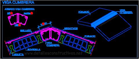 viga_cumbrera_carener_hormigon_armado_concreto_dos_aguas_cubierta_viguetas_autorresistentes_autoportantes_techo_inclinado_limatesa_slab_ridge_beam_rcc_concrete_cumeeira_poutre_faitiere_beton_arme_forjado_unidireccional_dwg_cad