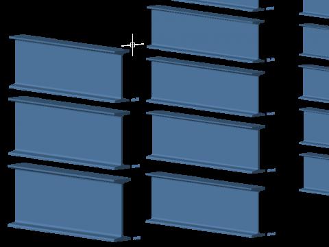 vigas_3d_metalicas_perfiles_acero_profiles_metallic_dxf_beams