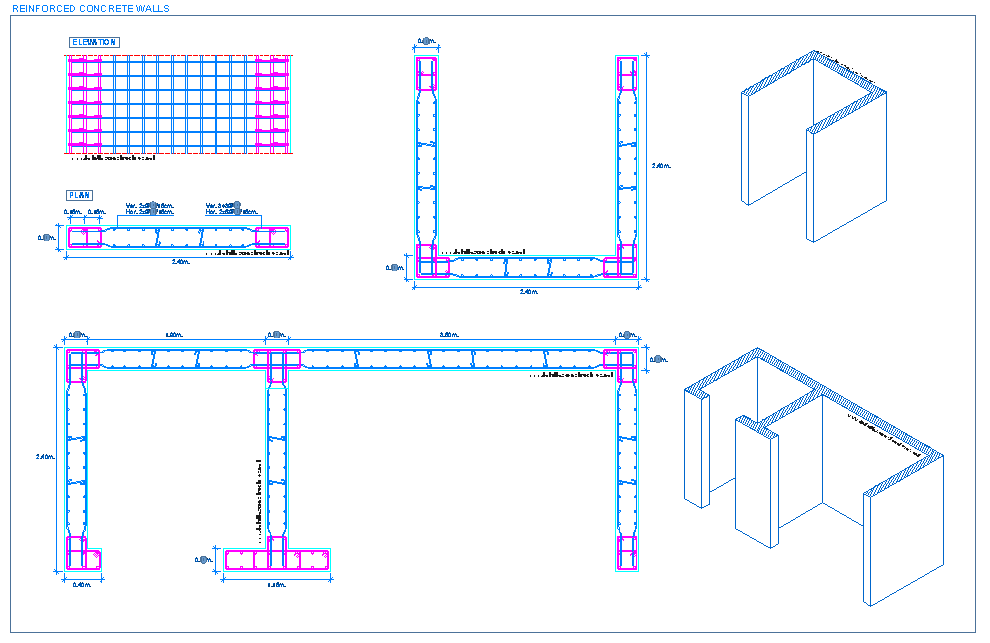Reinforced Concrete Basement Wall Design Example : Detallesconstructivos construction details cad blocks